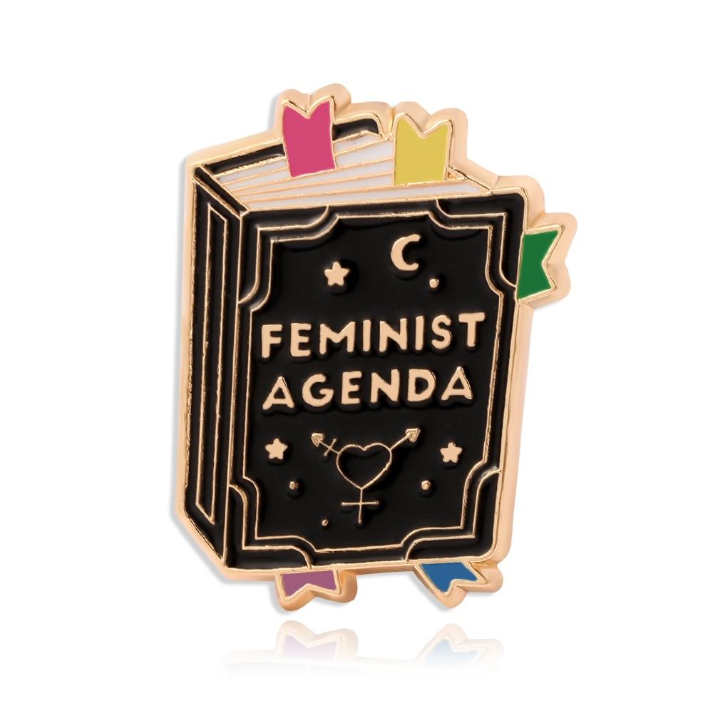 Модные черные цветные значки с эмалью для книг, Значки для женщин, значки с отворотом, брошь на булавке, джинсовая сумка, ювелирное изделие, п...