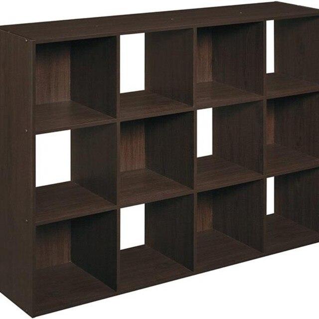 12 Cubes Wooden Bookcase Organizer 2