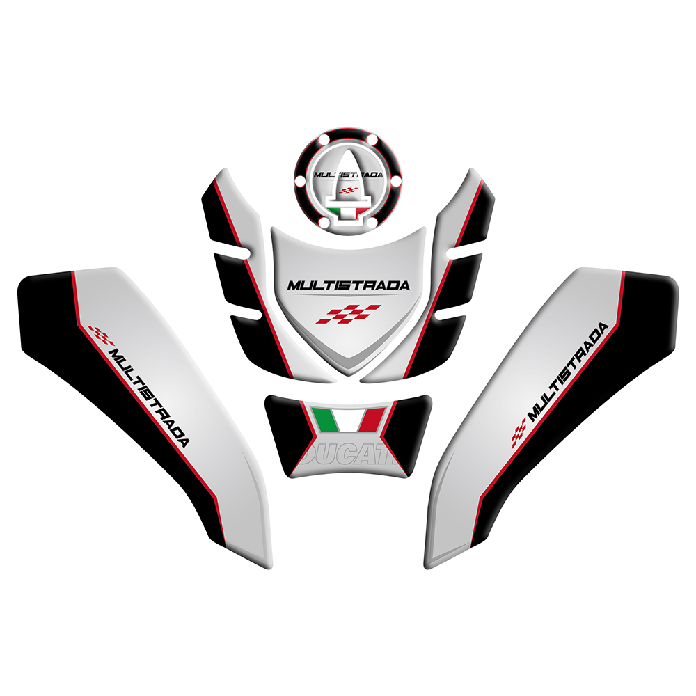 Fuel Cap Stickers 3d Carbon Protection Motorcycle Ducati Multistrada 1260