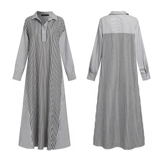 wonderful maxi dress, stripes, long sleeves, pockets and comfort 5