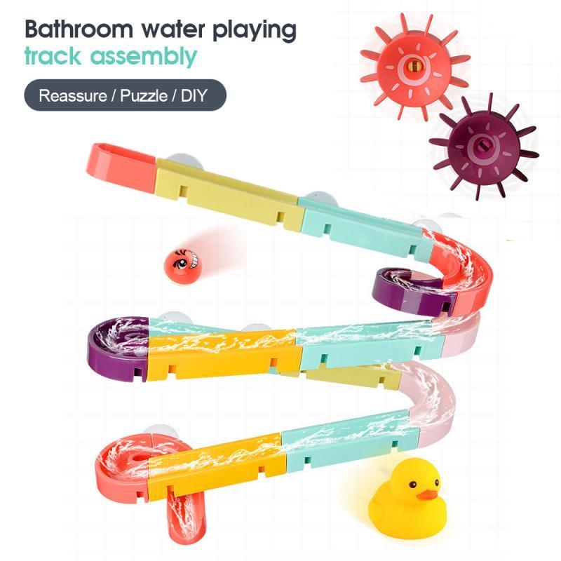 24 / 44 pièces bébé jouets de bain assemblage piste jouer jouets de bain d'eau
