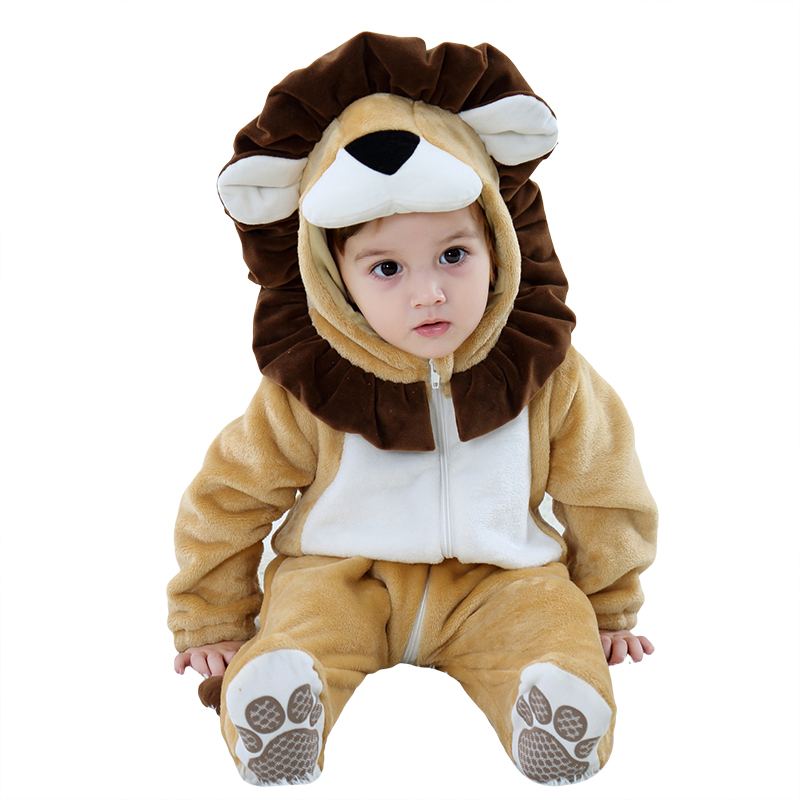 Infant Lion Costume | Umorden Baby Lion Costume Cosplay Kigurumi Cartoon Animal Rompers Infant Toddler Jumpsuit Flannel Halloween Fancy Dress