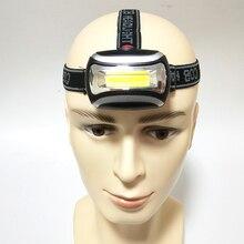 Миниатюрный налобный фонарь Litwod Z20 для повседневного использования, COB, светодиодный налобный фонарь для рыбалки, кемпинга, уличное освещение, Головной фонарь с 3 режимами, налобный фонарь с Cob матрицей и батареей ААА