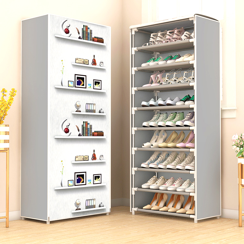 Multilayer Shoe Cabinet Dustproof Shoes Storage Easy To Install Space Saving Stand Holder Home Dorm Furniture Entryway Shoe Rack