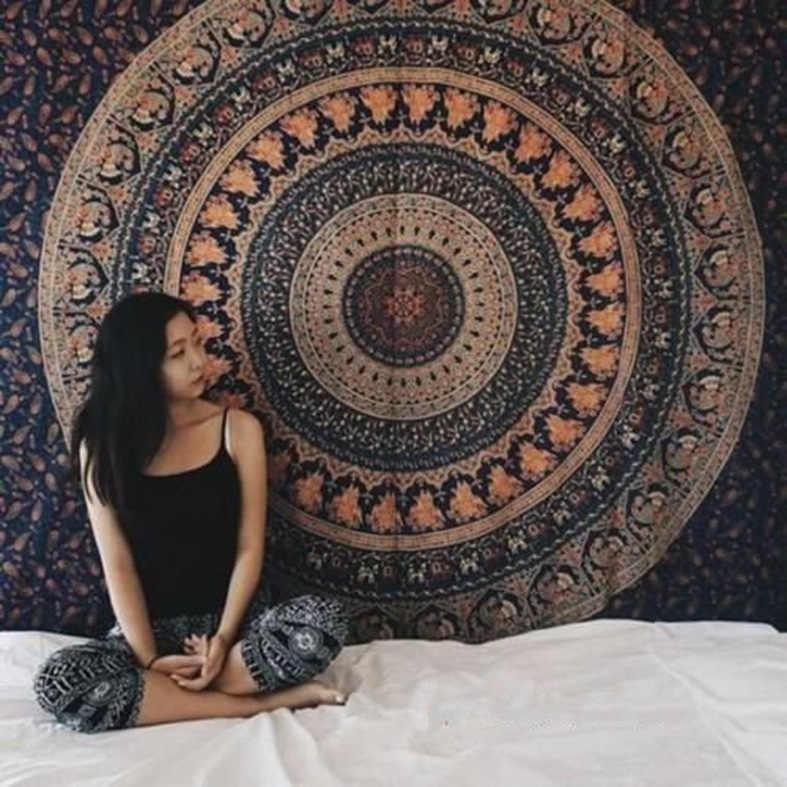 3d wiszące gobeliny Indian Mandala gobelin Retro Boho gobelin ścienny mata plażowa podróży ręcznik maty do jogi dywan do domu