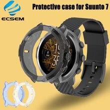 Caso de proteção capa para suunto 7 relógio inteligente anti choque acessórios tpu capa protetor tela escudo durável para suunto7