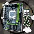 Материнская плата HUANANZHI X79 LGA2011  процессор RAM bundle  скидка X79  материнская плата с процессором Intel Xeon E5 2680 V2 RAM 32G (2*16G) RECC