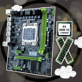 HUANANZHI X79 LGA2011 motherboard CPU RAM bundle discount X79 motherboard with CPU Intel Xeon E5 2680 V2 RAM 32G(2*16G) RECC