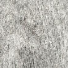 Маленький лисий мех окрашенный наконечник двухцветный лисий мех мяч имитация меха ткань