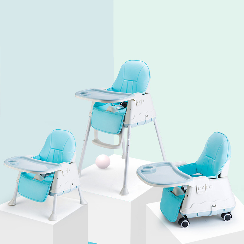 Baby Feeding Chair Highchairs For Children Booster Seat With Dining Table Toddler Adjustable Folding Chairs Easy To Carry
