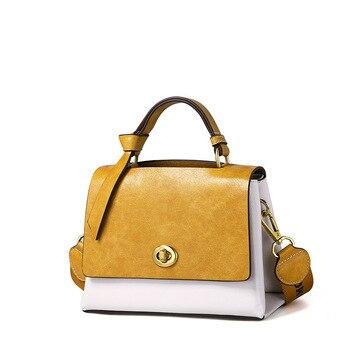 Women's bag 2019 new fashion trend Korean version of the clamshell shaped handbag personality contrast color shoulder Messenger