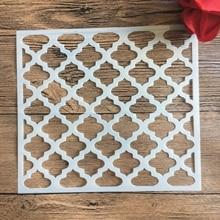 20 *18 см размер DIY ремесло плесень мандалы для рисования трафареты штамп фотоальбом тиснением бумага карточки по дереву, ткани, стены