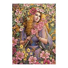 portrait women Moge Diamond Painting Full Round floral botany New DIY sticking drill cross stitch 5D embroidery home decorative