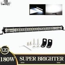 цена на CO LIGHT Super Slim 60W 180W 300W Offroad LED Work Light Bar 8