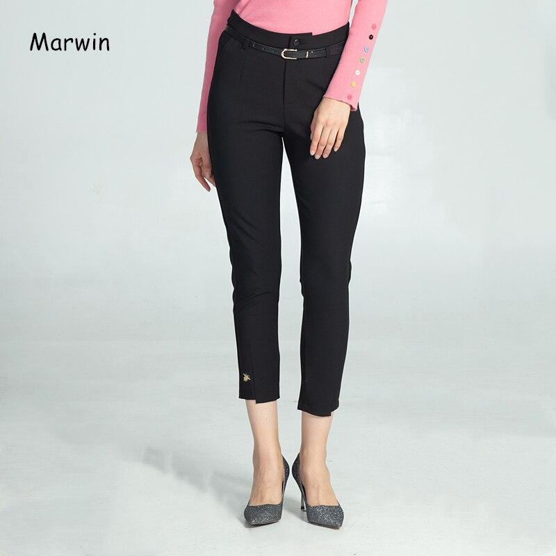 Marwin, Новое поступление, однотонные, повседневные, уличный стиль, рабочие брюки, модные, теплые, мягкие, высокое качество, женские брюки