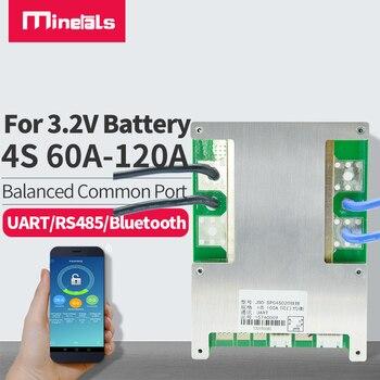 4s bms lifepo4 bluetooth con comunicación balance UART/RS485 LifePo4 60a 80a 100a 120a Placa de protección de litio inverter 1