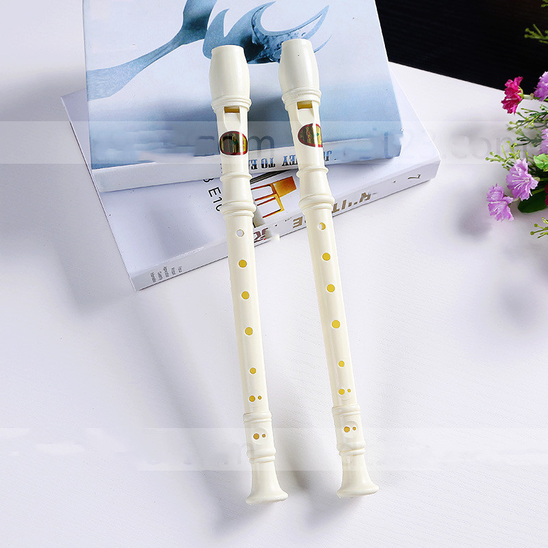 New 9 Holes Long Flute Instrument For Children Educational Tool Musical Soprano Recorder Popular Hot Sale White Plastic Flute