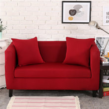 Solid Color Polyester Big Elasticity Modern Couch Cover for Living Room Sectional Corner L-shape Sofa Cover 1/2/3/4 Seater
