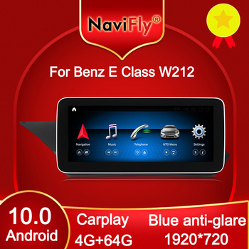 NaviFly 4GB+64GB Carplay 1920*720 Android 10 Car DVD GPS for Mercedes Benz E class W212 E200 E300 E400 E500 Four doors Sedan image