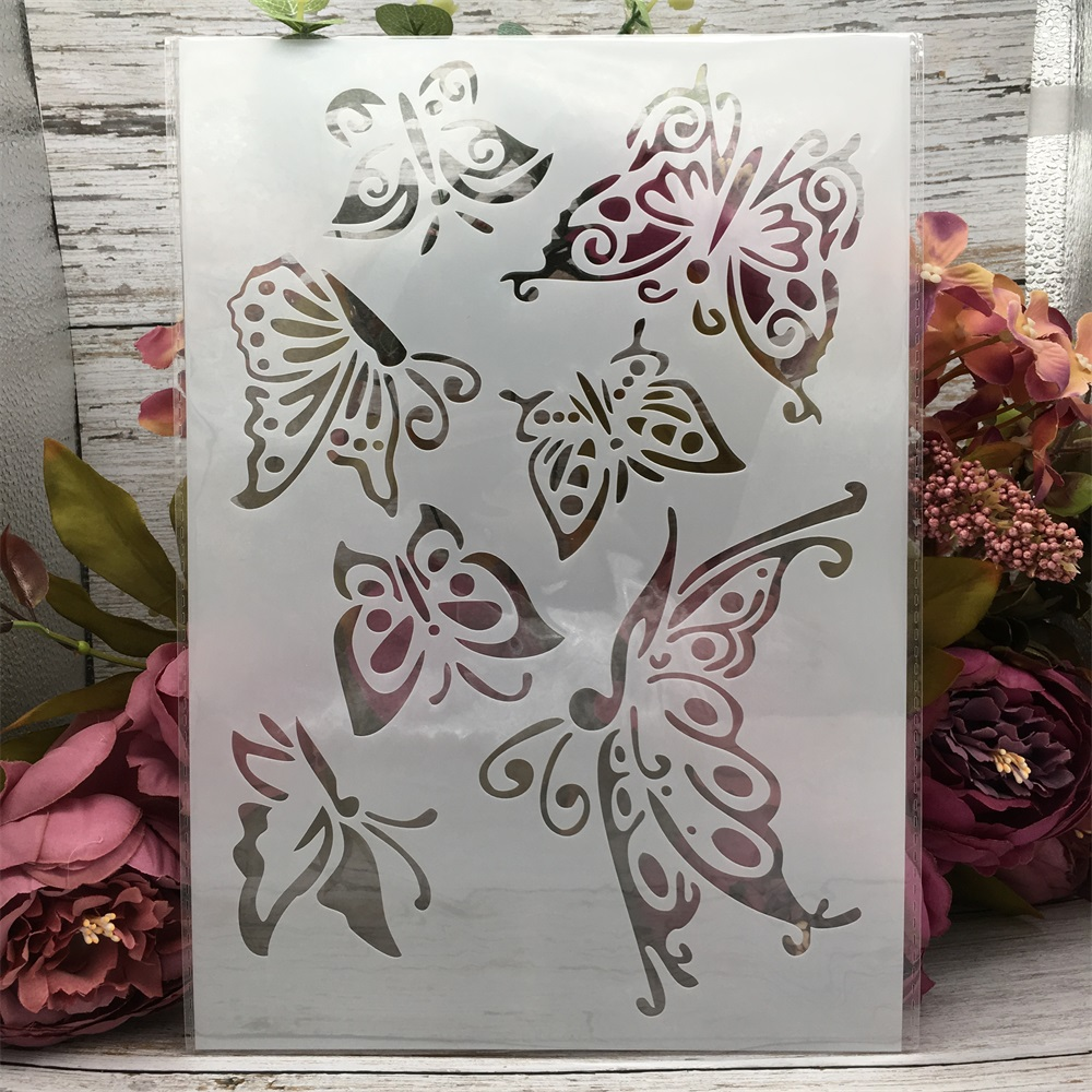 29*21cm A4 Butterflies DIY Layering Stencils Wall Painting Scrapbook Coloring Embossing Album Decorative Template