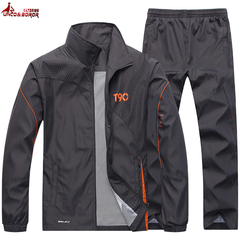 Tracksuit Men`s Sportswear Jacket +Pants 2pcs Brand Clothing Set Outwear Training Basketball Track Suit Joggers Sport Suit Men