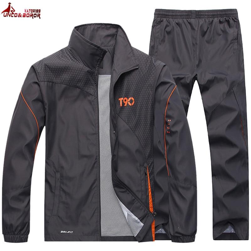 Tracksuit Men`s Sportswear Jacket +Pants 2pcs Brand Clothing Set Outwear Training Basketball Track Suit Joggers Sport Suit Men