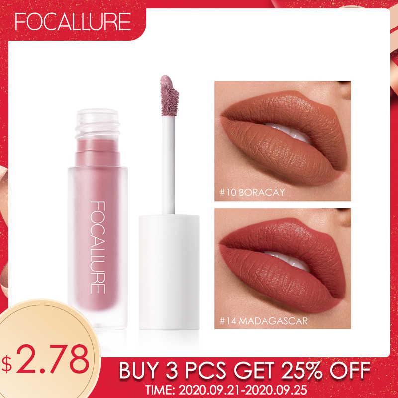 FOCALLURE Staymax Matte LiquidลิปสติกLip MakeupยาวKissproofยาวนานNourish Lip Tintน้ำหนักเบาสูตรLiquidลิปสติก