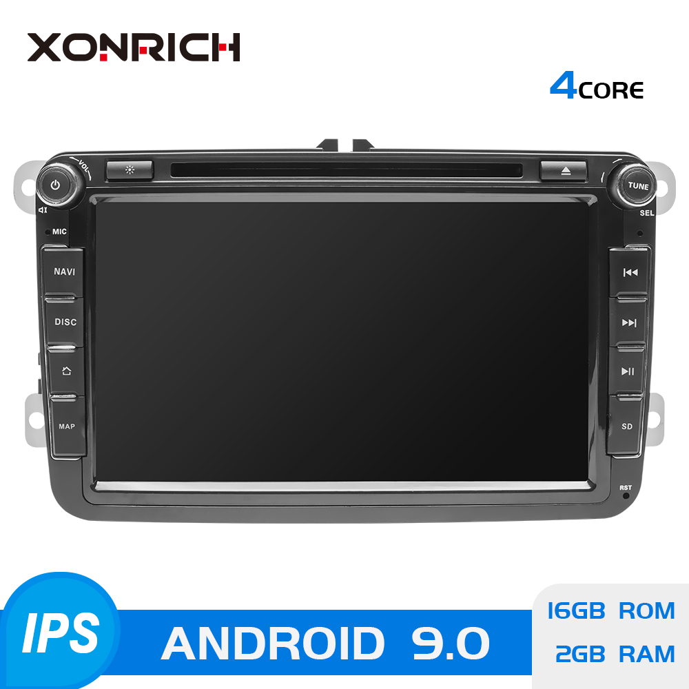 2 Din Android 9 Car radio GPS Navigation For VW Passat B6 amarok volkswagen Skoda Octavia 2 superb Jetta T5 <font><b>golf</b></font> 5 6 Multimedia image