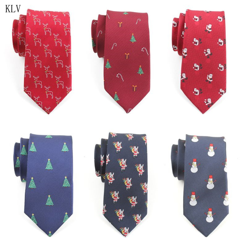 145x7cm Mens Christmas Ties Cute Colored Xmas Tree Santa Claus Printed Holiday Festival Party Jacquard Arrow Nectie Costume M68A