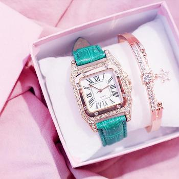 цена на Luxury Women Watches Bracelet Set Starry Sky Ladies Bracelet Watch Casual Leather Quartz Watch Wristwatch Clock Relogio Feminino