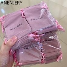 ANENJERY – pochettes en velours avec cordon de serrage, emballage de bijoux, logo personnalisé, 7x9cm, 1000 pièces, haut de gamme, sac cadeau