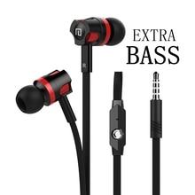 Auriculares de graves Extra con cable, 3,5mm, con micrófono, estilo Noodles, para Samsung