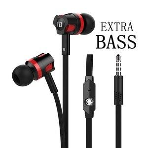 Image 1 - Extra Bass Cuffie via cavo del Trasduttore Auricolare 3.5 millimetri Auricolari Con Microfono Tagliatelle Stile наушники Sport Auricolare auriculare per Samsung