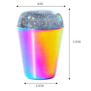 Image 5 - Tampon en Silicone Transparent pour les ongles, timbre holographique, grattoir de vernis, modèle de manucure, transfert dimpressions