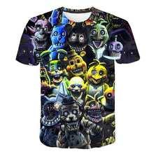 2021 new summer cartoon fnaf t shirt for boys print Five Nights At Freddy's t shirt Bonnie