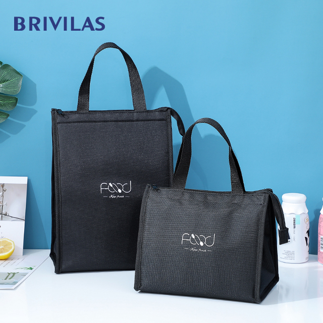 Brivilas new lunch bag for women cooler portable hand zip food bags waterproof picnic travel breakfast thermo bag high quality 2