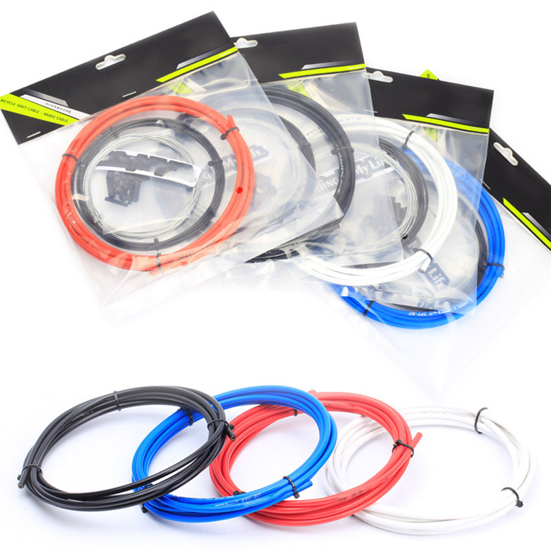 Bicycle Gear Brake Cable Front Rear Inner Outer Wire Gear Brake Cable Set Brake Shifter Bike Accessories 4 Colors JT-Drop Ship
