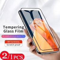 2/1Pcs Volle abdeckung schutzhülle für oneplus Nord N10 N100 9 9E 9R 8 pro 8T plus 7 7T 6 gehärtetem glas film telefon screen protector