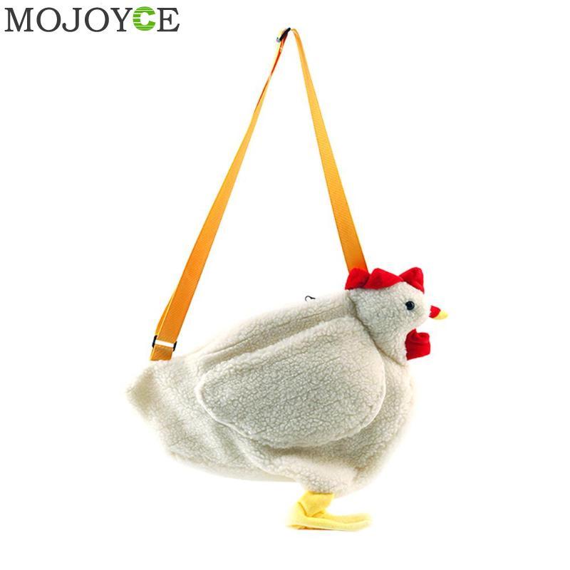 VIP Fashion Women Messenger Bag Cartoon Chicken Casual Shoulder Bags Cute Girls Plush Handbag Bolsos Mujer sac a main