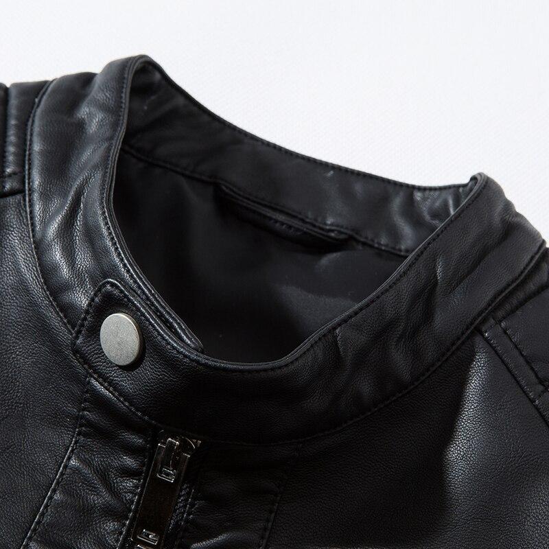 Leather Jacket Plus Size 5XL Motorcycle Autumn Black Blue Mens Coats Faux Leather Jackets Men Clothigng PU Jacket,ZA317