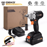 DEKO GBW20DU2 2000 rpm Electric Impact Wrench 310 Nm Torque 1/2 inch with 4.0Ah 20V Lithium Ion Battery Pack