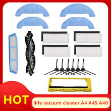 Main Brush HEPA filter iLife A4 A4S a40 robot vacuum cleaner accessories edge brush main brush cover replacement parts