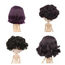 Blyth boneca gelo rbl couro cabeludo cúpula peruca de cabelo curto para diy personalizado boneca acessório