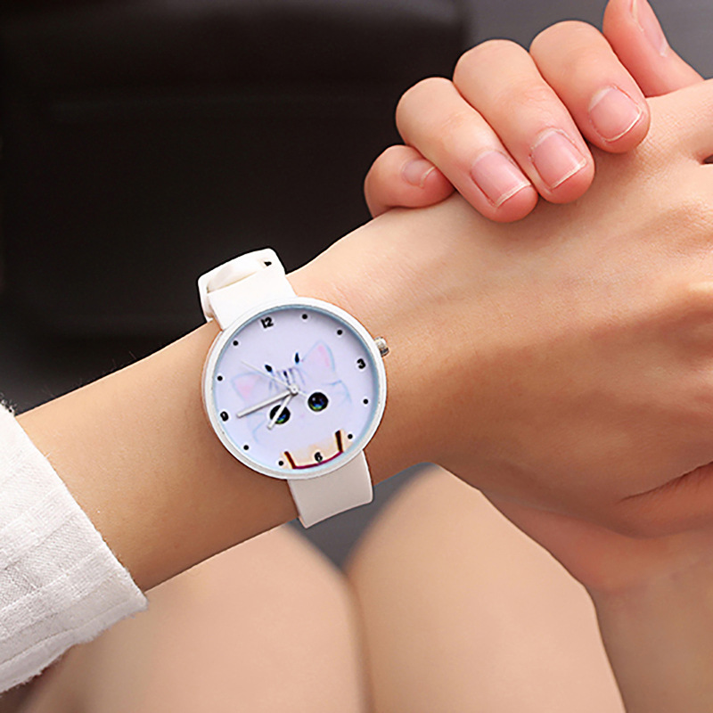 For Student Couple Watch For Cat Children's Wrist Watch Safety Silicone Clock Baby Kids Hour Fashion Young Boy Girl XX3112