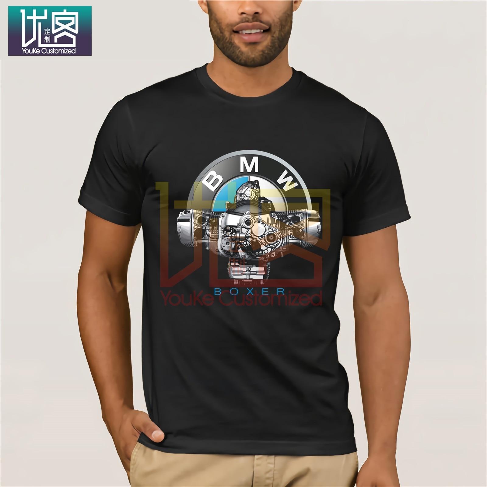 2020 verão legal t-shirts fãs de carro alemão boxer coração motor r 1200 gs rt r 1150 gs alemão carro fãs motorrad t camisa phiking