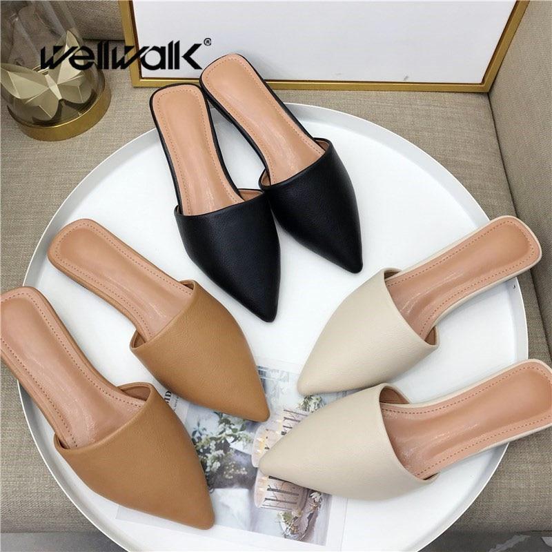 Brand Slippers Women Mules Shoes Slides Ladies Home Womens Female Flats Fashion