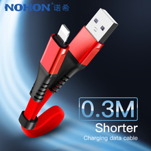 NOHON USB Charging Data Cable Lighting For iphone XS MAX XR X 8 7 6 6S 5S 5C Plus Charge Cables For iPad Mini Short Charger Line цена