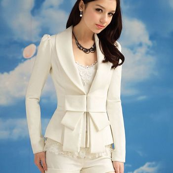 2020 Spring Autumn Women Blazers Ladies Clothing  Women's New White Wild Casual Long-Sleeved Small Suit Women