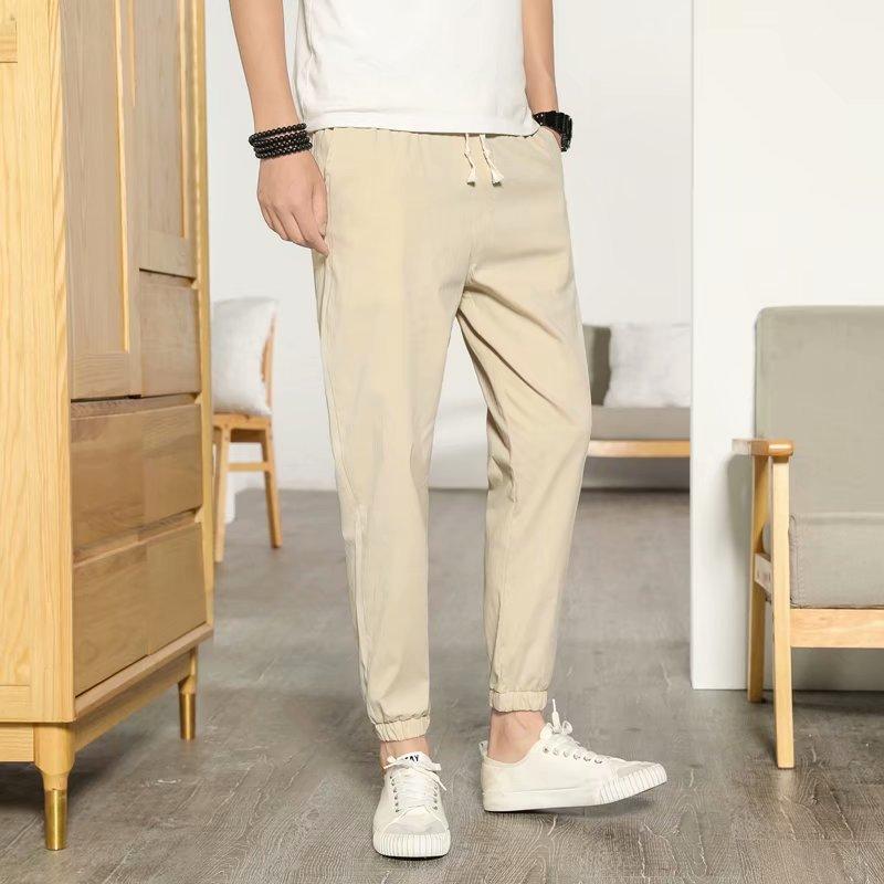 Cotton Pants 2018 New Style Men Capri Pants Men'S Wear Japanese-style Summer Thin Section Beam Leg Men's Casual Athletic Pants