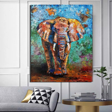 Watercolor Elephant Art Wallpaper Animal Print Canvas Painting Living Room Home Decor Modern Wall Oil Poster